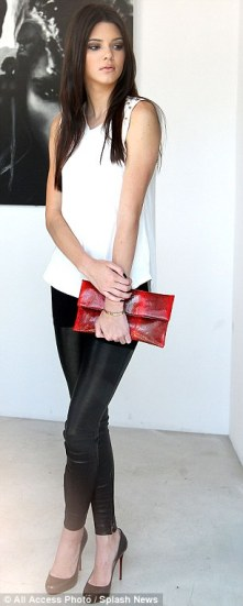 kendall J Leather Leggings