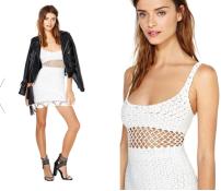Lisa Maree Crochet Mini Dress $168