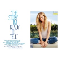 If you're a fan of The CW's 90210 then you probably know AnnaLynne McCord. In the July 2014 copy of Cosmo Magazine she does an article where she talks about her life growing up in a strict household, leaving home and moving to the city and what her life was like before and after she got raped. This story is one of my absolute favorites from this magazine. It is definitely a must read on page 121.